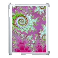 Raspberry Lime Surprise, Abstract Sea Garden  Apple iPad 3/4 Case (White)