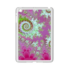 Raspberry Lime Surprise, Abstract Sea Garden  Apple iPad Mini 2 Case (White)