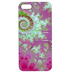 Raspberry Lime Surprise, Abstract Sea Garden  Apple iPhone 5 Hardshell Case with Stand