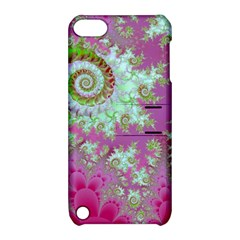Raspberry Lime Surprise, Abstract Sea Garden  Apple Ipod Touch 5 Hardshell Case With Stand
