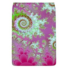 Raspberry Lime Surprise, Abstract Sea Garden  Removable Flap Cover (Large)