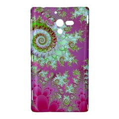 Raspberry Lime Surprise, Abstract Sea Garden  Sony Xperia ZL (L35H) Hardshell Case