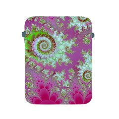 Raspberry Lime Surprise, Abstract Sea Garden  Apple Ipad Protective Sleeve