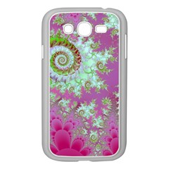 Raspberry Lime Surprise, Abstract Sea Garden  Samsung Galaxy Grand DUOS I9082 Case (White)