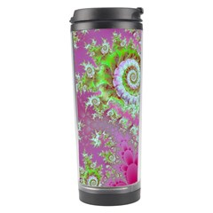 Raspberry Lime Surprise, Abstract Sea Garden  Travel Tumbler