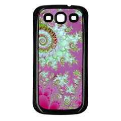Raspberry Lime Surprise, Abstract Sea Garden  Samsung Galaxy S3 Back Case (Black)