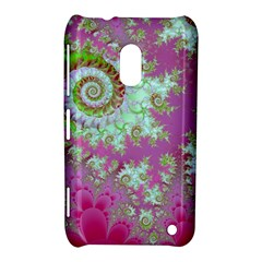 Raspberry Lime Surprise, Abstract Sea Garden  Nokia Lumia 620 Hardshell Case