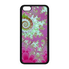 Raspberry Lime Surprise, Abstract Sea Garden  Apple iPhone 5C Seamless Case (Black)