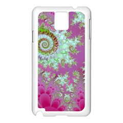 Raspberry Lime Surprise, Abstract Sea Garden  Samsung Galaxy Note 3 N9005 Case (White)
