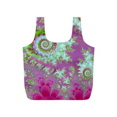 Raspberry Lime Surprise, Abstract Sea Garden  Reusable Bag (s)
