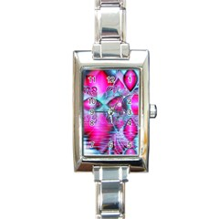 Ruby Red Crystal Palace, Abstract Jewels Rectangular Italian Charm Watch
