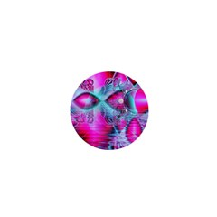 Ruby Red Crystal Palace, Abstract Jewels 1  Mini Button Magnet