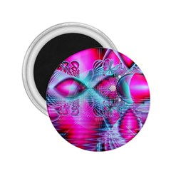 Ruby Red Crystal Palace, Abstract Jewels 2.25  Button Magnet