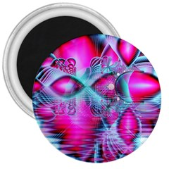 Ruby Red Crystal Palace, Abstract Jewels 3  Button Magnet