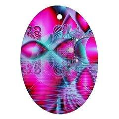 Ruby Red Crystal Palace, Abstract Jewels Oval Ornament