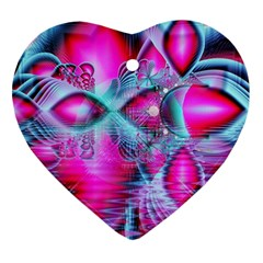 Ruby Red Crystal Palace, Abstract Jewels Heart Ornament