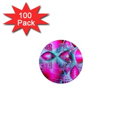 Ruby Red Crystal Palace, Abstract Jewels 1  Mini Button Magnet (100 Pack)