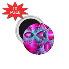 Ruby Red Crystal Palace, Abstract Jewels 1.75  Button Magnet (10 pack)