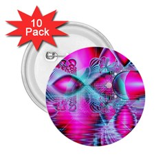 Ruby Red Crystal Palace, Abstract Jewels 2 25  Button (10 Pack)