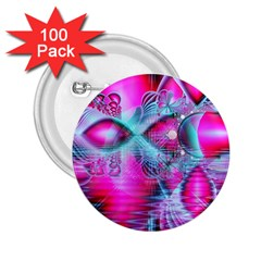 Ruby Red Crystal Palace, Abstract Jewels 2.25  Button (100 pack)