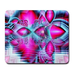 Ruby Red Crystal Palace, Abstract Jewels Large Mouse Pad (Rectangle)