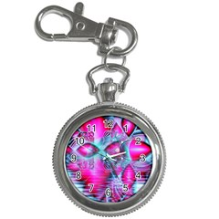 Ruby Red Crystal Palace, Abstract Jewels Key Chain Watch