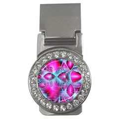 Ruby Red Crystal Palace, Abstract Jewels Money Clip (cz)