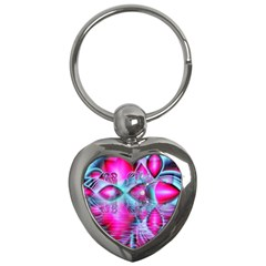 Ruby Red Crystal Palace, Abstract Jewels Key Chain (Heart)