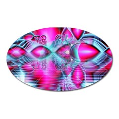 Ruby Red Crystal Palace, Abstract Jewels Magnet (oval)
