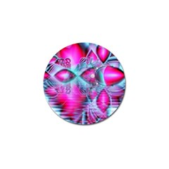 Ruby Red Crystal Palace, Abstract Jewels Golf Ball Marker
