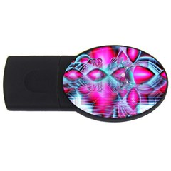 Ruby Red Crystal Palace, Abstract Jewels 1GB USB Flash Drive (Oval)