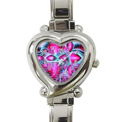Ruby Red Crystal Palace, Abstract Jewels Heart Italian Charm Watch
