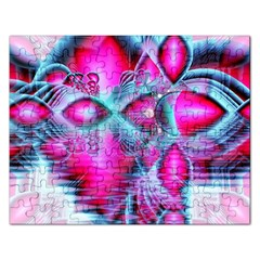 Ruby Red Crystal Palace, Abstract Jewels Jigsaw Puzzle (Rectangle)