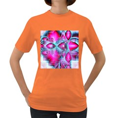 Ruby Red Crystal Palace, Abstract Jewels Women s T-shirt (Colored)