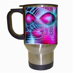 Ruby Red Crystal Palace, Abstract Jewels Travel Mug (White)