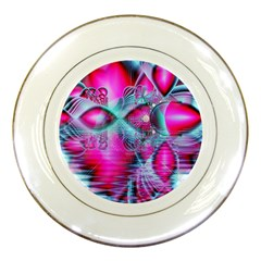 Ruby Red Crystal Palace, Abstract Jewels Porcelain Display Plate