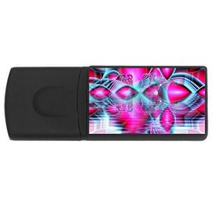 Ruby Red Crystal Palace, Abstract Jewels 4gb Usb Flash Drive (rectangle)