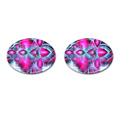 Ruby Red Crystal Palace, Abstract Jewels Cufflinks (oval)