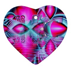 Ruby Red Crystal Palace, Abstract Jewels Heart Ornament (Two Sides)