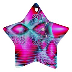 Ruby Red Crystal Palace, Abstract Jewels Star Ornament (two Sides)