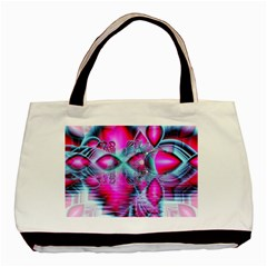 Ruby Red Crystal Palace, Abstract Jewels Twin-sided Black Tote Bag