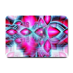 Ruby Red Crystal Palace, Abstract Jewels Small Door Mat