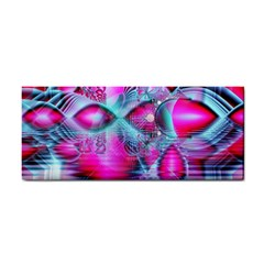 Ruby Red Crystal Palace, Abstract Jewels Hand Towel