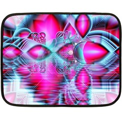 Ruby Red Crystal Palace, Abstract Jewels Mini Fleece Blanket (Two Sided)