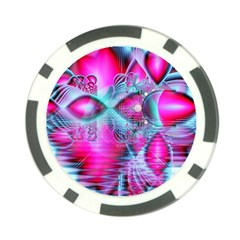 Ruby Red Crystal Palace, Abstract Jewels Poker Chip (10 Pack)