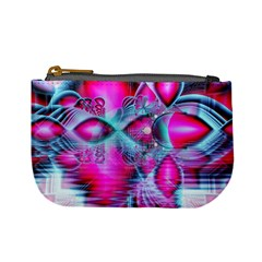 Ruby Red Crystal Palace, Abstract Jewels Coin Change Purse