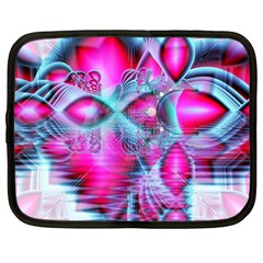 Ruby Red Crystal Palace, Abstract Jewels Netbook Sleeve (XL)