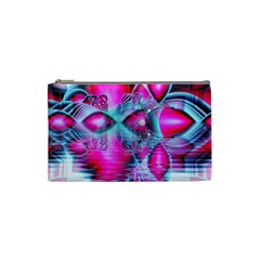 Ruby Red Crystal Palace, Abstract Jewels Cosmetic Bag (small)