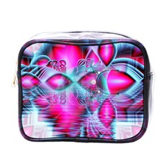 Ruby Red Crystal Palace, Abstract Jewels Mini Travel Toiletry Bag (One Side)