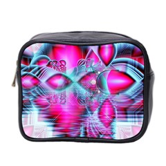 Ruby Red Crystal Palace, Abstract Jewels Mini Travel Toiletry Bag (Two Sides)